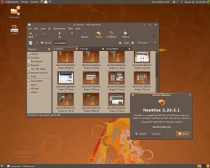 Navegador de archivos Nautilus 2.35