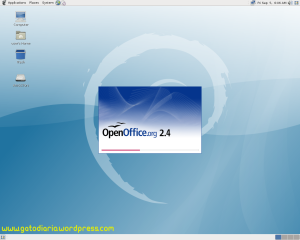Open Office en Debian Live