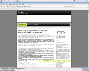 gatodiario cargando desde Debian Live
