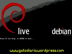 Debian Live al arrancar