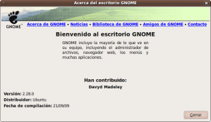 Nueva version de Gnome