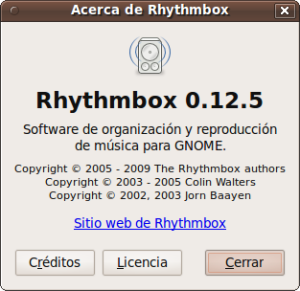 Nueva version de Rrhythmbox