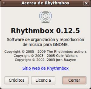 Nueva version de Rrhythmbox